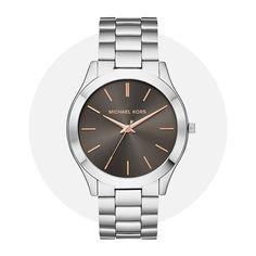 Michael Kors Slim Runway Silver Gray Mk8624 Michael Kors Watch, Runway, Quartz, Slim, Watches, Gray, Band, Silver, Accessories