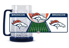 Denver Broncos Crystal Freezer Mug