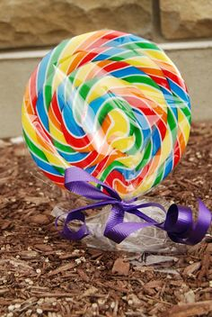 """Fun Easter Tradition - Plant """"Jelly Bean"""" Seeds in the Garden the NIght Before Easter.  In the Morning Surprise Kids with Colourful Lollipops."""