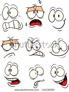 Cartoon faces with different expressions. Vector clip art illustration with simple gradients. All in a single layer. Cartoon faces with different expressions. Vector clip art illustration with simple gradients. All in a single layer. Art And Illustration, Free Illustrations, Character Illustration, Doodle Drawings, Easy Drawings, Simple Cartoon Drawings, Drawing Cartoons, Cartoon Faces Expressions, Clip Art