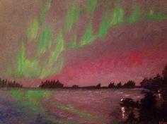 "Northern Lights, 2012, 11"" x 14"", Acrylic on Canvas. $395"