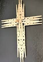 Homemade Holiday Gift: Wooden Cross Wood Crafts wooden crosses for crafts Wooden Cross Crafts, Wooden Clothespin Crafts, Wooden Crosses, Wooden Clothespins, Wall Crosses, Wood Crafts, Popsicle Stick Crafts, Craft Stick Crafts, Vbs Crafts
