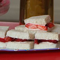 Strawberry Finger Sandwiches (for kids)