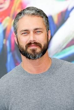 Taylor Kinney & Jesse Spencer Bring 'Chicago Fire' To Monte Carlo TV Festival Moustache, Lady Gaga, Taylor Kinney Chicago Fire, Jesse Spencer, Silver Foxes, Grey Hair, Beard Styles, Perfect Man, Lancaster
