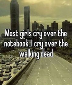 So i can say this because I have never seen the notebook, but i have seen The Walking Dead and i do cry. Carl The Walking Dead, The Walk Dead, Walking Dead Funny, Walking Dead Zombies, Twd Memes, Dead Inside, Daryl Dixon, Best Tv Shows, Zombie Apocalypse