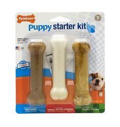 Nylabone Chew Treat & Toy Puppy Teething Starter Kit 3 Pack #Dogvills