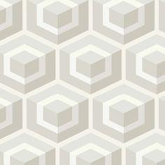 Papier peint - Cole and Son - Hexagon - Gris