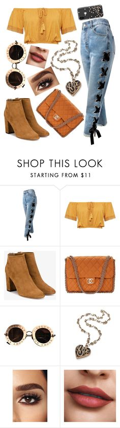 """""""78"""" by andreea-narcisa-obreja on Polyvore featuring Sans Souci, Aquazzura, Chanel, Gucci and Kate Spade"""