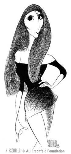 Cher by Al Hirschfeld.