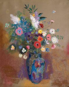 Odilon Redon - Bouquet of Flowers Painting Art Floral, Odilon Redon, Gustav Klimt, French Artists, Ikebana, Beautiful Paintings, Love Art, Painting Inspiration, Painting & Drawing