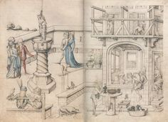 Master of the Housebook. Bathhouse. c. 1475/1485. Schloß Wolfegg / Sammlung Fürst von Waldberg zu Wolfegg und Waldsee. Wolfegg, Germany. Bildindex der Kunst und Architektur.  Another instance of Lorien's fancy hat.
