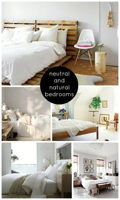 Neutral and Natural Bedrooms | Shoes Off Please
