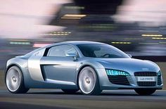 Audi R8 Gray-Blue