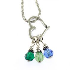 Birthstone Heart Necklace - Husband, if you are looking, I want this given to me as a gift when I give birth next time. It should already have birth stones of first two children.
