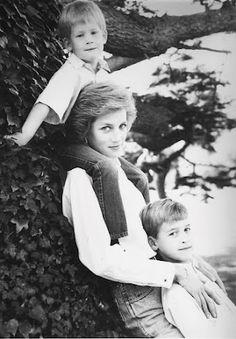 Princess Diana. Prince William.  Prince Harry