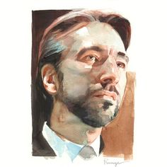 Watercolor collection 8 — Art of Nick Runge Watercolor Artwork, Watercolor Portraits, Watercolor Illustration, Painting People, Figure Painting, Painting & Drawing, Academic Drawing, Guache, Cool Paintings