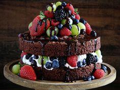 Naked Chocolate Cake recipe  via Food Network