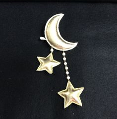 B GRADE  Crescent Moon and Shooting Stars  Dangling 2way by Shilen