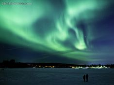 Image: Northern lights in Rovaniemi in Lapland, Finland.