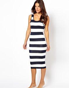 Image 4 of ASOS Stripe Midi Tank Beach Dress