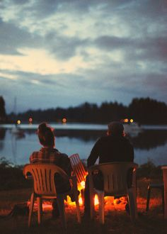 Something about sitting and looking at a campfire that soothes the soul.