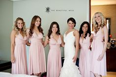blush twobirds Bridesmaid dresses