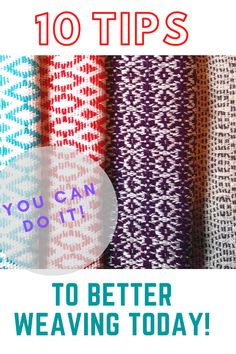 10 essential tips to improve your weaving today! Weaving Projects, Fiber Art, Improve Yourself, Etsy Shop, Jet Plane, Tips, Inspiration, Biblical Inspiration, Knitting Projects