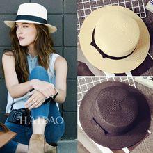2016 moda chapéu de sol para mulheres clássico Jazz Caps panamá Fodora  chique primavera verão praia 60bf2058a98