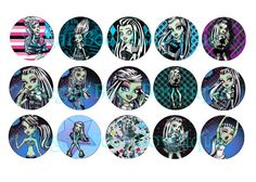 Monster High Frankie Stein Bottle Cap Images