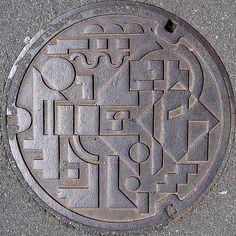 Des plaques d'égouts japonaises
