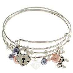 Here are some easy Silver Bangle Charm Bracelets to make.  A great gift for yourself! (includes 3 bracelets)  $19.99