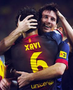 Xavi and Messi - Barcelona vs. Real Madrid, 2012 El Clasico