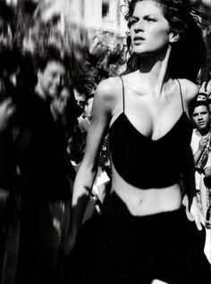 """Provocative"", VOGUE Italia, Sep 1999, ph. Michel Comte, Model: Gisele Bundchen"