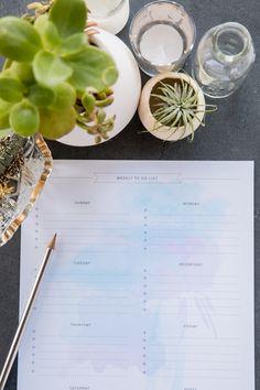 Lista de cosas por hacer a una semana vista // For the Makers: Get Organized with Printable To Do Lists