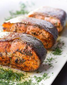 Pan Seared Salmon With Fresh Dill
