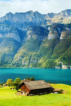 Beautiful Lake Walensee ~ St.Gallen, Switzerland