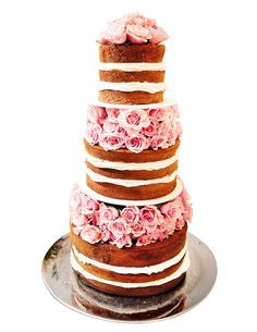 Cake Decorating Without Frosting : 1000+ images about Unfrosted Wedding Cakes on Pinterest ...