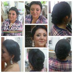 Peinado para madrina o mamá de novia   Hair. karina Makeup Anneliese