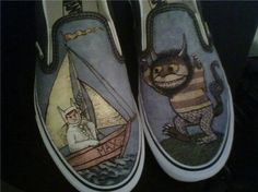 Where the Wild Things Are Custom Vans Shoes by stabbyvonkillerstein on etsy