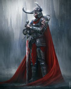 Knight of the Dying Sun by Nino Is - Your Daily Dose of Amazing beautiful Creativity and Digital Art - Fantasy Characters: Archers Assassins Astronauts Boners Knights Lovers Mythology Nobles Scholars Soldiers Warriors Witches Wizards Character Modeling, Character Art, Character Design, Medieval Knight, Medieval Fantasy, Fantasy Armor, Dark Fantasy, Digital Art Fantasy, Image Painting