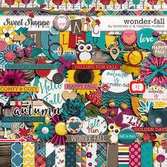 Digital Scrapbook Kit, Wonder-Fall by Amanda Yi and Meghan Mullens