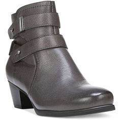 Naturalizer Kepler Ankle Booties (€165) ❤ liked on Polyvore featuring shoes, boots, ankle booties, graphite lead, strap boots, ankle strap booties, naturalizer booties, strappy boots and strappy booties