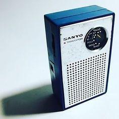 RADIO Portatile Vintage SANYO 6 Transistor TH-632 Blu Made 🇯🇵 Anni '70 OM 📻   eBay