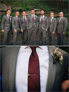 Ideas For Wedding Fall Groomsmen The Bride Burgundy And Grey Wedding, Merlot Wedding, Wedding Groom, Wedding Suits, Trendy Wedding, Wedding Ideas, Dream Wedding, Wedding Stuff, Wedding Planning
