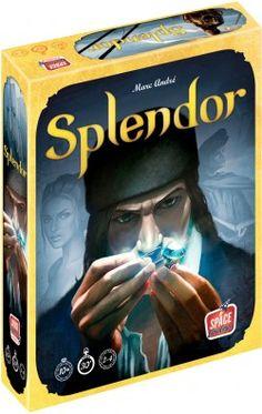 """""""Splendor, un jeu qui s'explique en 5 minutes et qui dure 30 min"""" : voicicomment l'auteur résume son jeu. Et c'est vrai ! Malgré cela, même siSplendor a"""