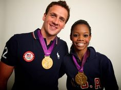 Ryan Lochte and Gabby Douglas U. swimmer Ryan Lochte poses for a portrait with gymnastics gold medalist Gabby Douglas during a photo shoot with Neil Leifer at the 2012 Olympics in London on August Olympic Athletes, Olympic Sports, Olympic Gymnastics, 2012 Summer Olympics, Winter Olympics, London Olympic Games, Jordyn Wieber, Sports Fanatics, Shawn Johnson