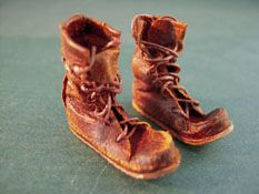 """Prestige Leather Hand Crafted 1"""" Scale Old Worn Out Work Boots"""