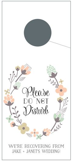Non disturbare porta grucce con rustici fiori di pinkblossomgoods