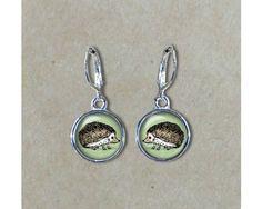 Hedgehog Earrings Hedgehog Dangle Earrings by BuckyProductions