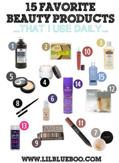 15 of my Favorite Beauty Products (that I use daily) via lilblueboo.com